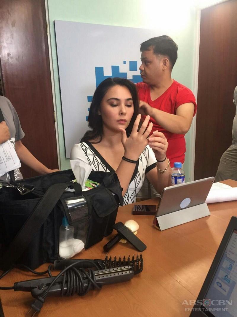 On the set of Be My Lady: Gwen Zamora as Sophia